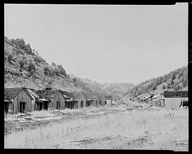 Row of cottages in coal mining town. Cambria, Wyoming