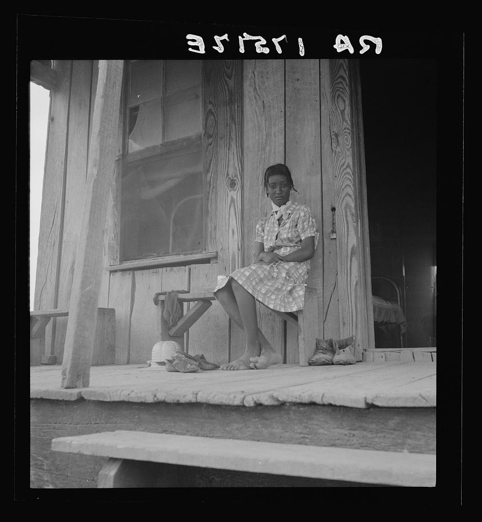Sharecropper child near Clarksdale, Mississippi