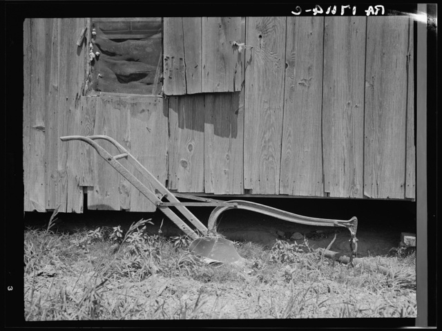 Sharecropper's cabin and sharecropper's tool. Mississippi
