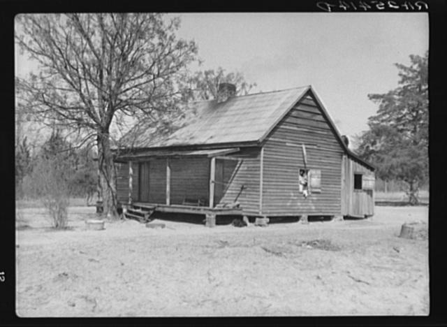 Sharecropper's home. Macon County, Alabama