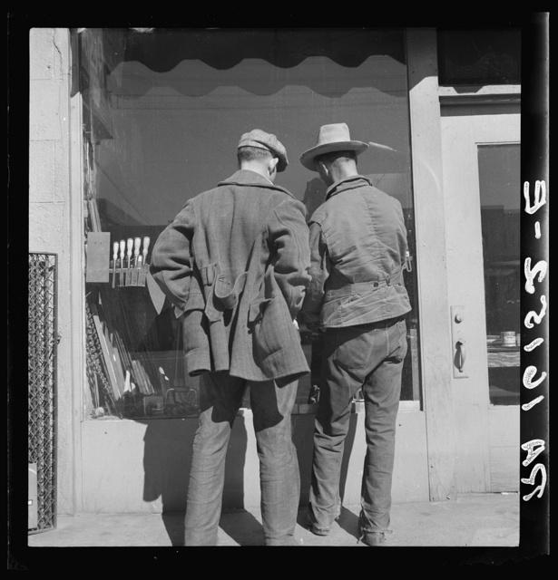 """Skid Row."" Howard Street, San Francisco, California. The hock shop"