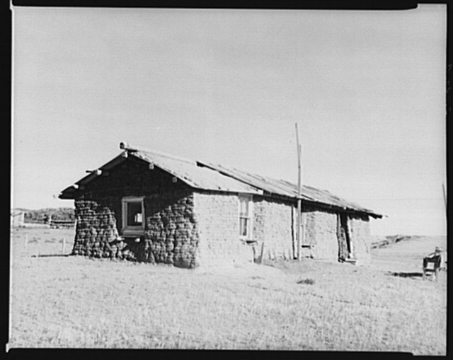 Sod house. McKenzie County, North Dakota