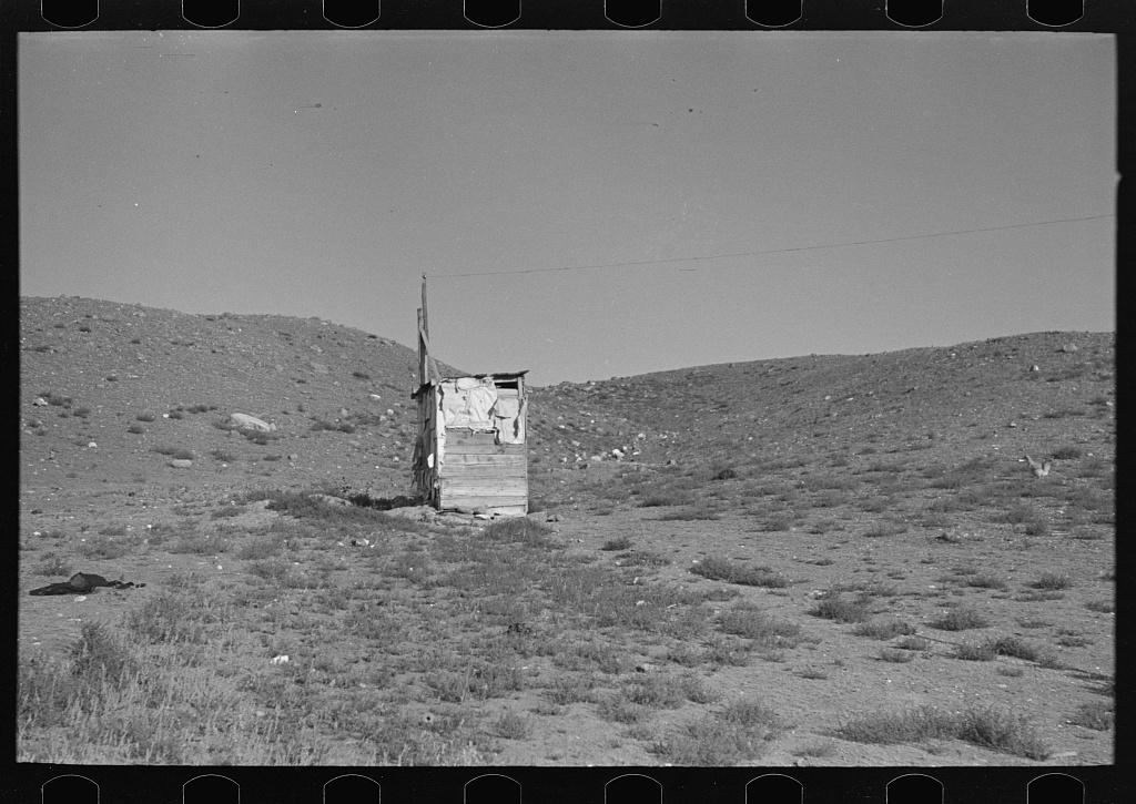 """Solitude,"" an outhouse on property of Frank Weeks, near Williston, North Dakota"