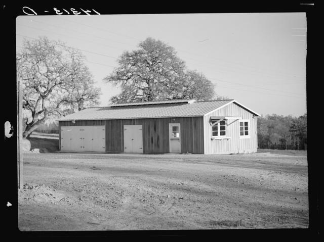 Sonoma migratory labor camp, California. Gate, house, and garage