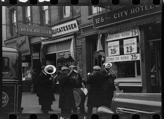 Street band in Yorkville, New York, New York