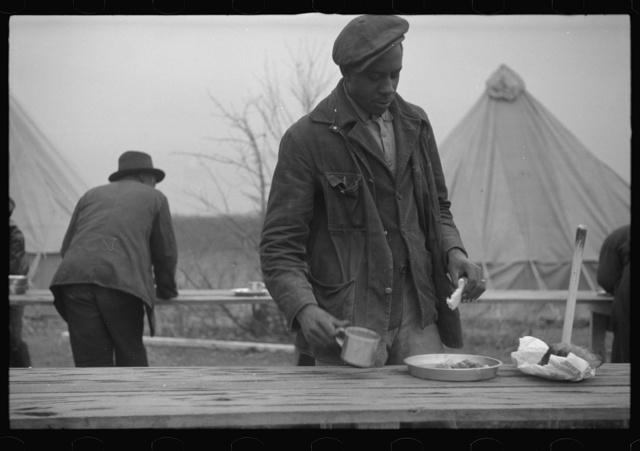 Supper at Marianna, Arkansas flood refugee camp