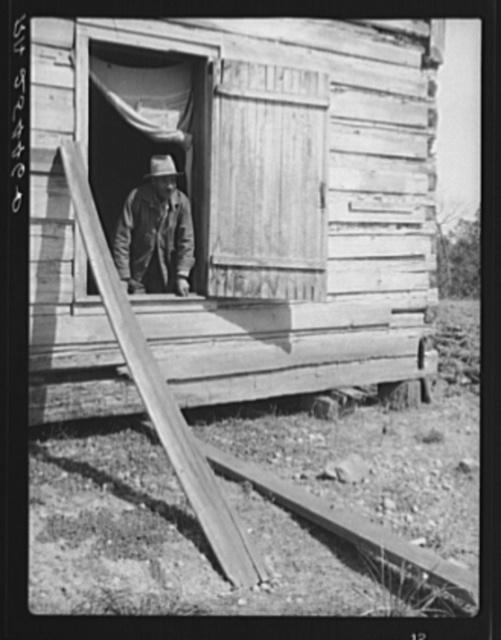 Tenant farmer in his cabin. Macon County, Alabama
