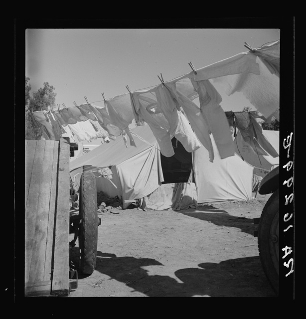 The incessant struggle for cleanliness amid dust and dirt. Imperial County, California