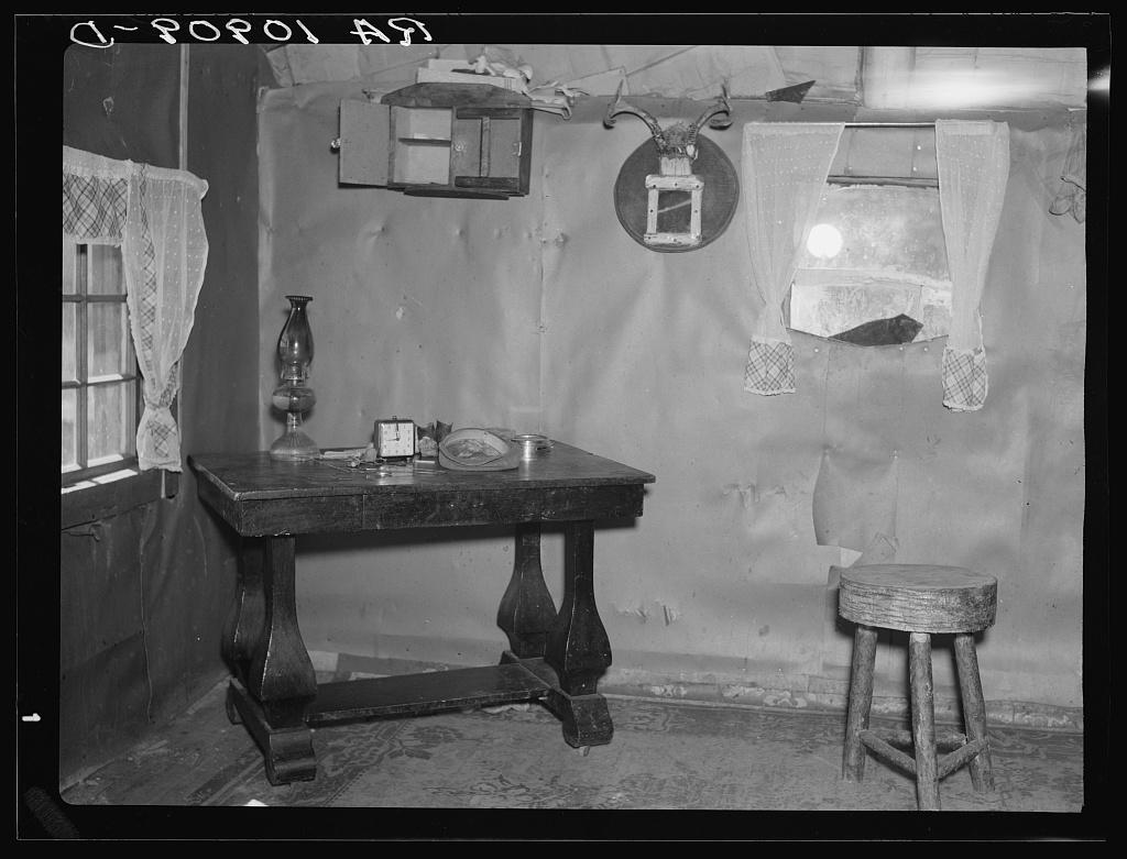 The Living Room Of Sherman Ritchieu0027s Shack Near Iron River, Michigan