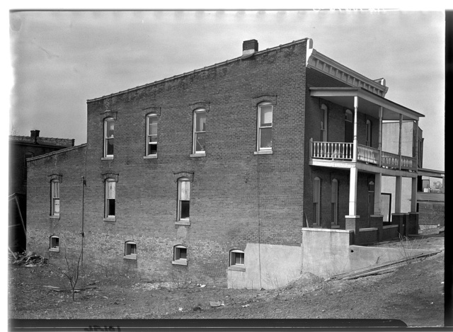The old Rawlings Tavern. Shawneetown, Illinois. General Lafayette stayed here