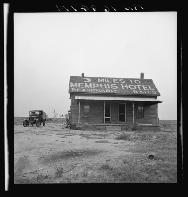 The tractor driver (#16949) gets a dollar a day, this house to live in, and a cow to milk for working ten to eleven and a half hours daily. Three miles from Memphis, Texas