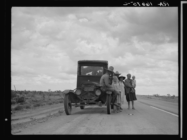 Three related Oklahoma drought refugee families near Lordsburg, New Mexico