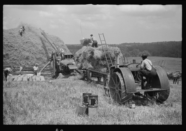 Threshing, Brookeville, Maryland