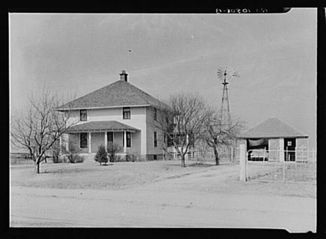 Tip Estes, hired man on a Benton County, Indiana farm, was promised this house to live in, but the employer has now rented it to the manager of the Farm Bureau Coop Association