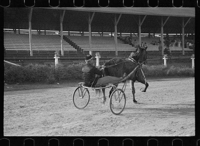 Trotting horse race, State Fair, Rutland, Vermont