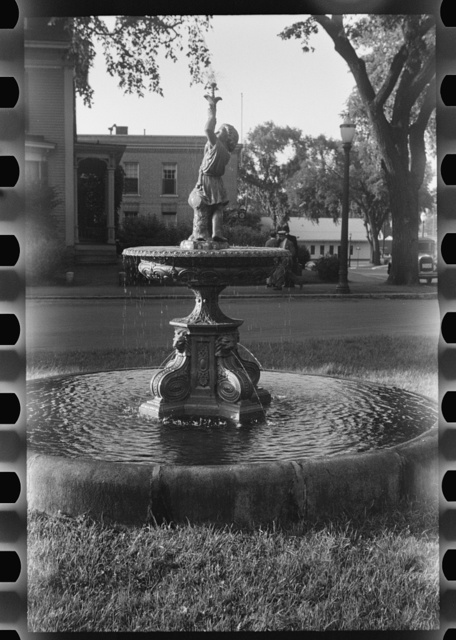 [Untitled photo, possibly related to: Water fountain, Lebanon, New Hampshire]