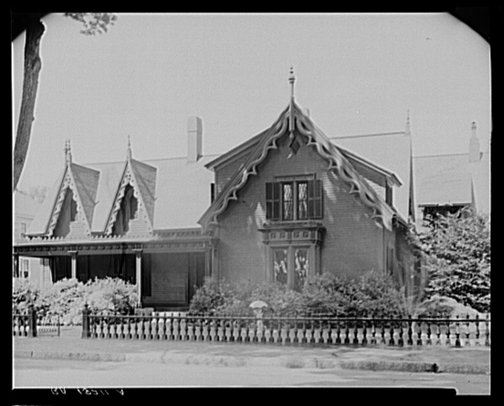 Victorian house built when the Amoskeag mills were booming. Manchester, New Hampshire