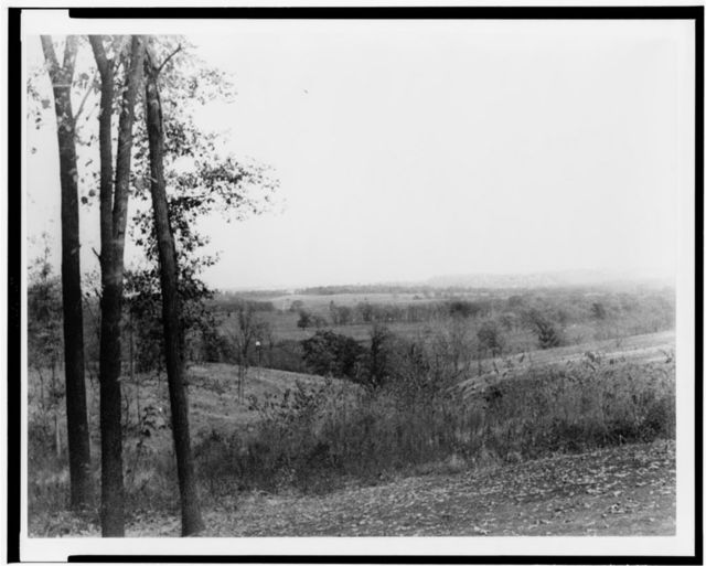 [View from Van Vechten Shaffer's country house near Marion house(?), unidentified locale