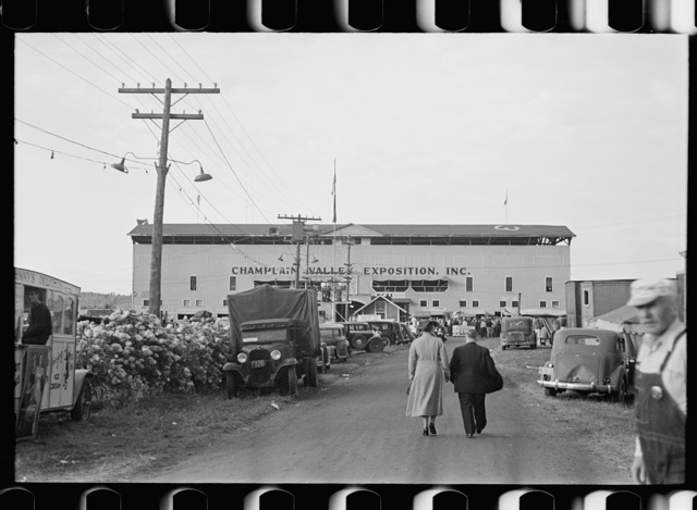 View of fairgrounds, Champlain Valley Exposition, Essex Junction, Vermont