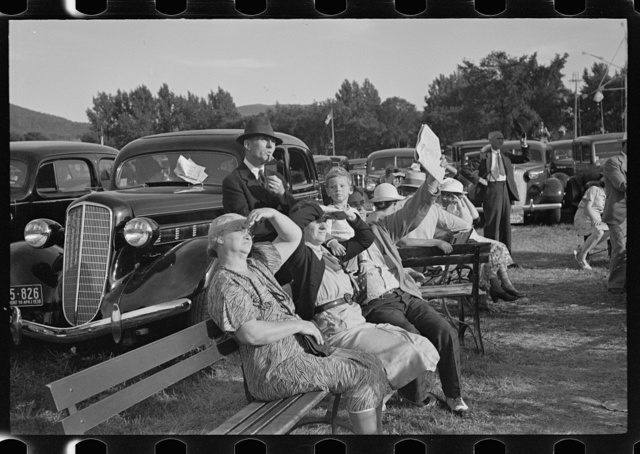Visitors at the State Fair, Rutland, Vermont
