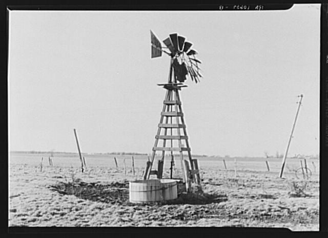 Windmill on farm in northern Illinois. Near Harvard, Illinois