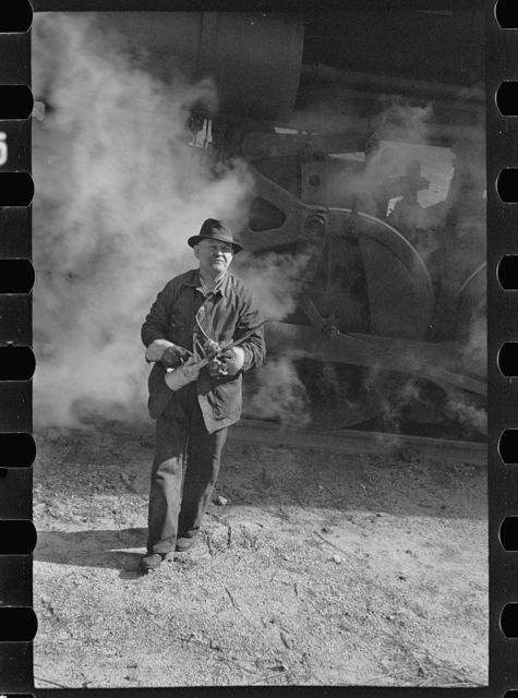 Yardman on mine railroad, Jefferson County, Alabama