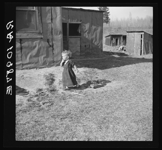 Youngest child of Max Sparks. Near Long Lake, Wisconsin. She is a deaf mute