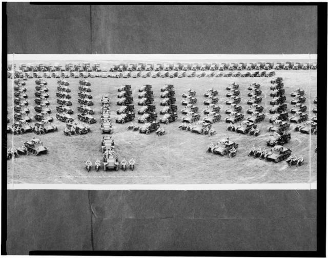 7th Cavalry Brigade mechanized, Fort Knox, Ky., July 1st, 1938, Major General Daniel Van Voorhis, commanding
