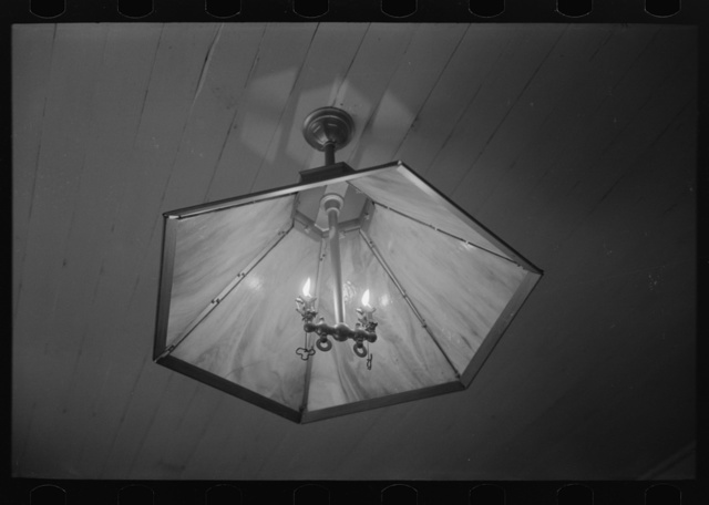 Acetylene light in Cajun farm home near Crowley, Louisiana. Ignition of acetylene gas is accomplished by flints which are integral in the fixture
