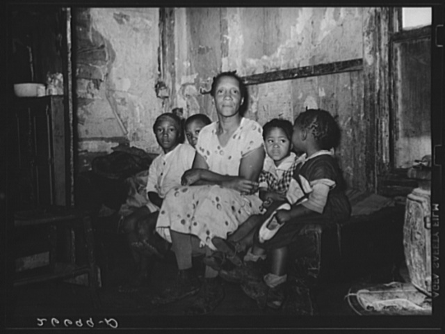"Agricultural laborer's family. ""Eighty Acres,"" Glassboro, New Jersey"