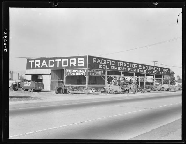 Along the main travel artery through San Joaquin Valley, California, U.S. 99