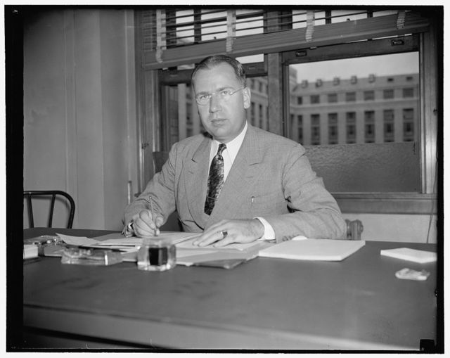 Appointed to newly created Department of Agriculture post. Washington, D.C., July 1. Dr. Ralph L. Dewey today assumed his duties as head of the newly created Division of Transportation in the Bureau of Agricultural Economics, U.S. Department of Agriculture. Dr. Dewey was formerly in charge of Transportation Studies at Ohio State University and has been associated with transportation activities in various government agencies. The new division will administer that section of the Agricultural Adjustment Act of 1938 relating to transportation of farm products, 7/1/38