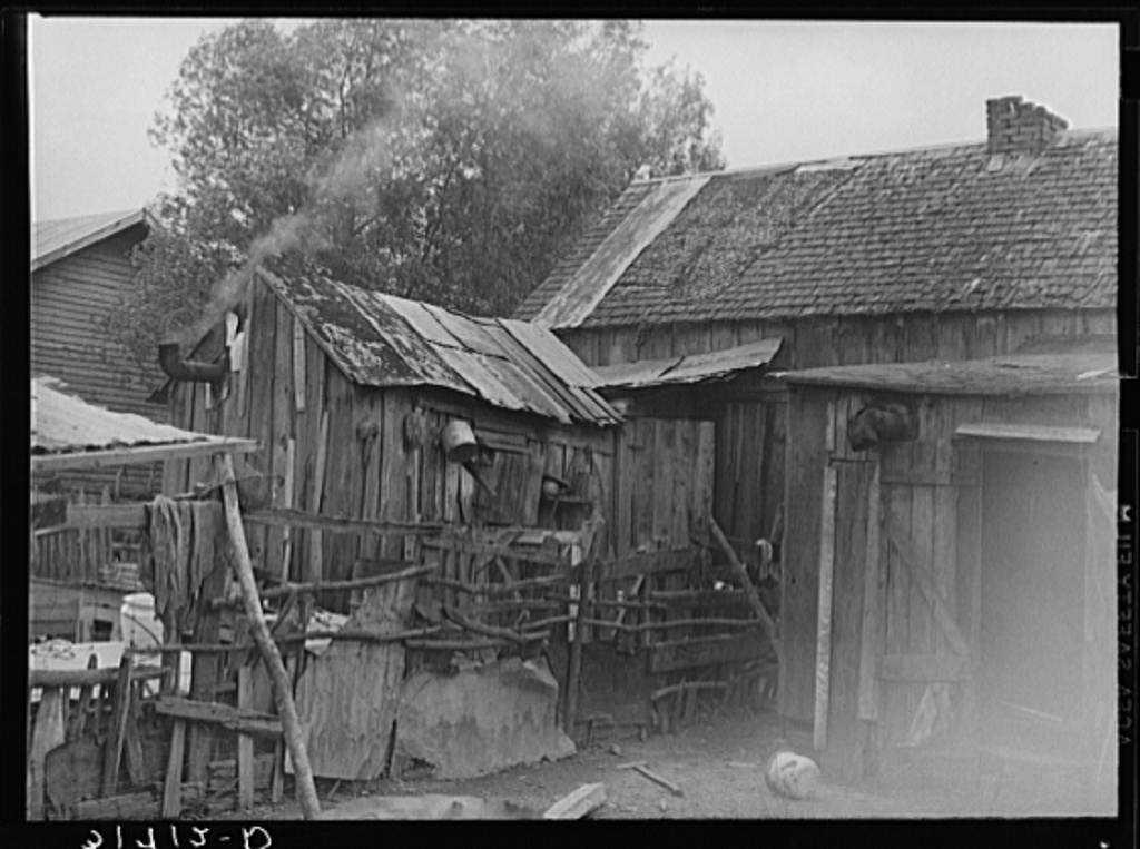Backyard of Negro home. Norco, Louisiana