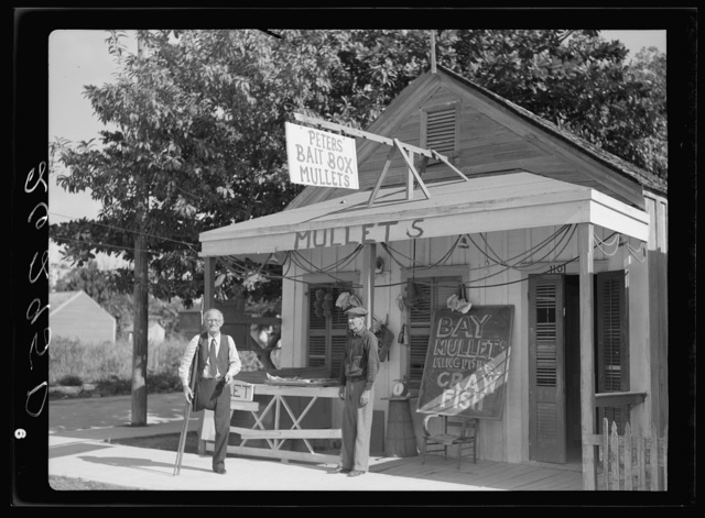 Bait seller. Key West, Florida