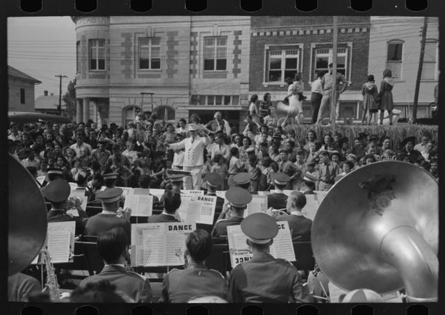 Band concert, National Rice Festival, Crowley, Louisiana