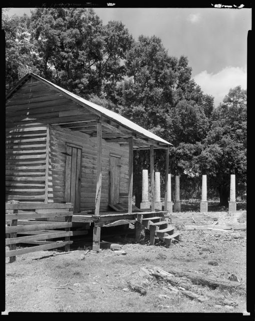 Belmont Plantation ruins and cabin, Maringouin, Iberville Parish, Louisiana