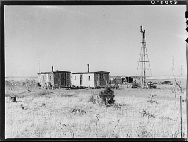 Boxcar farmhouse. Saline County, Kansas