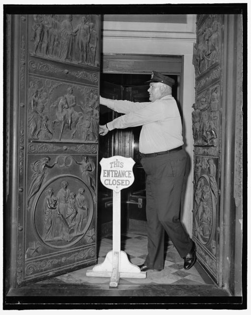 [Bronze doors for the east portico of the Senate wing of the U.S. Capitol, Washington, D.C.]