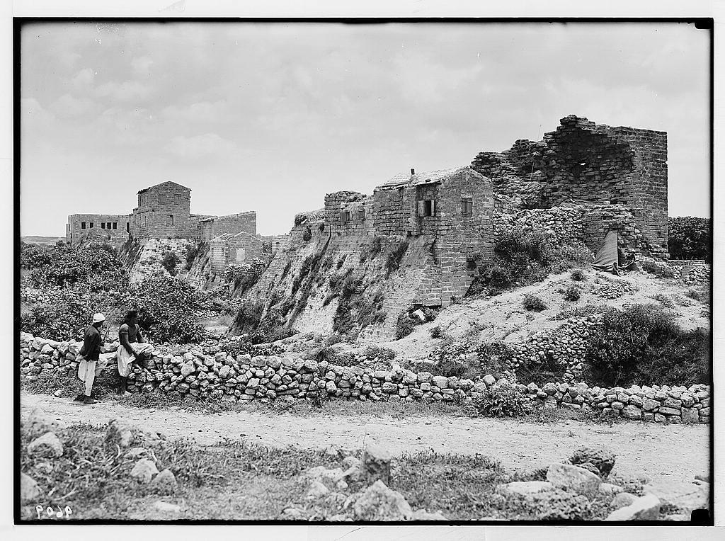 Caesarea  (Kaisarieh)  Northern Crusader rampart and moat
