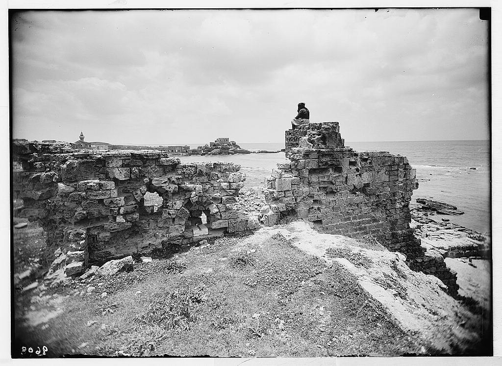 Caesarea  (Kaisarieh)  Overlooking northern Crusader rampart