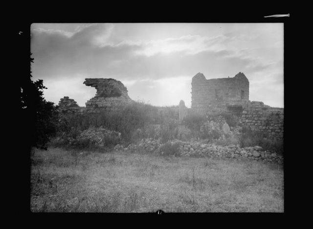 Caesarea. (Kaisarieh). Sunrise above Crusader ramparts