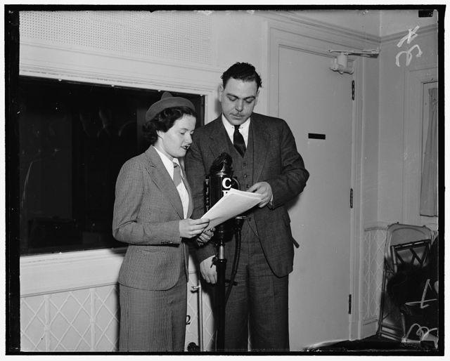 Christine Kempton & Warren Sweeney (announcer)