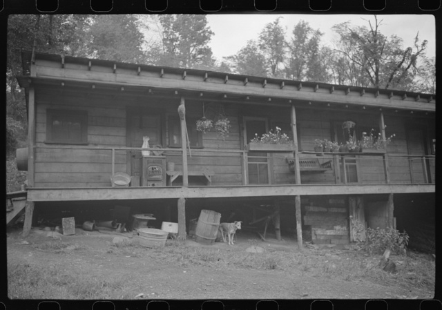 """Coal miner's home, company house, the """"Patch,"""" Cassville, West Virginia"""