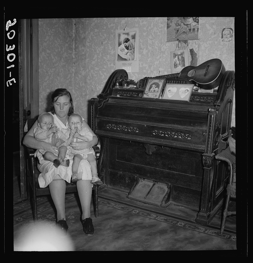 Coal miner's wife and youngest twins in family of ten. Pursglove, Scotts Run, West Virginia
