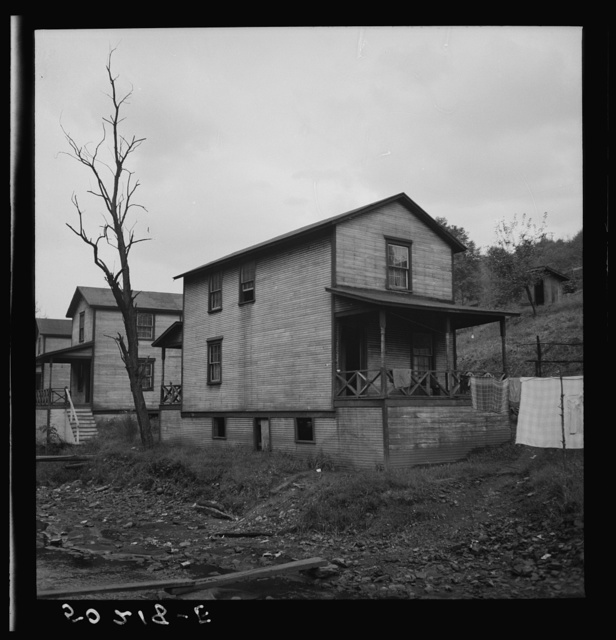 Company houses, coal mining section. Pursglove, Scotts Run, West Virginia