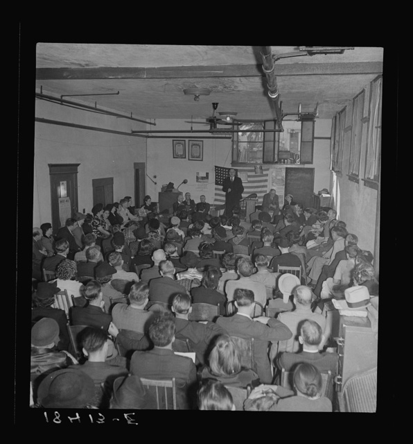 Conference called by the Steinbeck Committee to Aid Agricultural Organization during the cotton strike. Bakersfield, California