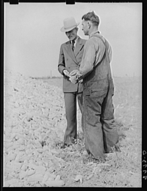 County supervisor talking with rehabilitation client. Lincoln County, Nebraska