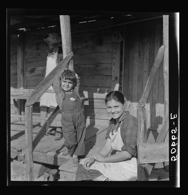 Daughter and son of Indian woman near Pembroke. Maxton, North Carolina