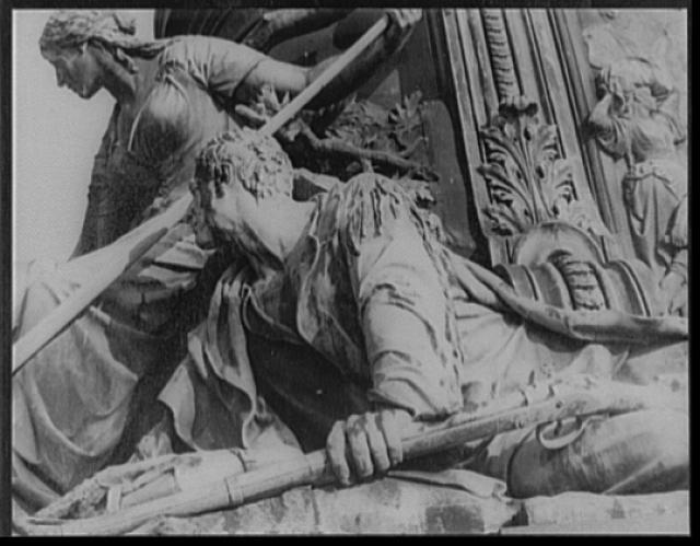 [Detail of George Washington fountain, head of Parkway, North Philadelphia, Pennsylvania]