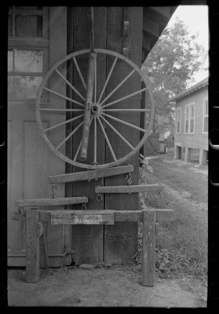 Display in front of blacksmith's shop, Abbeville, Louisiana
